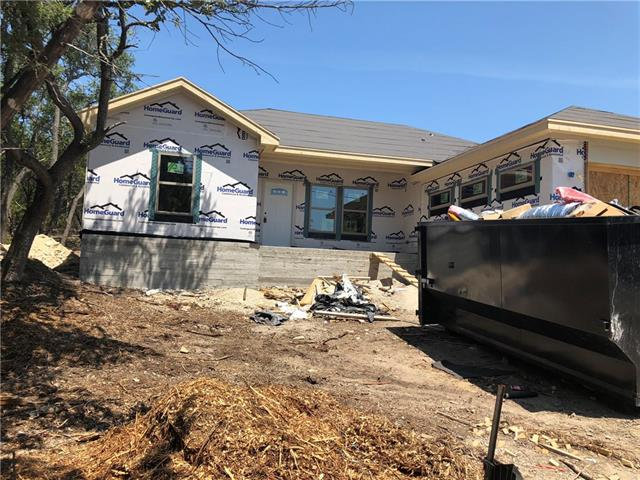 New Construction with finish date in October.   Quality construction with engineered wood floor, stainless appliances, granite counters in kitchen and both baths, carpet in bedrooms, tile in all wet areas.  Free standing shower and separate garden tub in master. Vaulted ceiling in living area with beam. Master with tiered ceiling. High ceilings throughout. Covered back porch.  Photos are of home that is finished. Builder is using the same quality. Key in lockbox on water spiget by garage.  Use back door.
