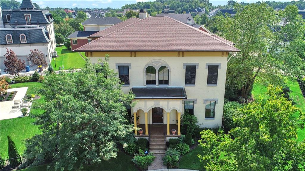 Gorgeous Italianate w/ modern style. Impressive in every way w/ Stunning Light-Filled 2 Story GrtRoom complete w/ dramatic archways & cozy fireplace. Modern kitchen w/ exquisite European cabinetries, glass tile backsplash & SS appliances. Sensational Master Retreat w/ spa like bath & private balcony overlooking lush & beautiful private landscape. Adorned w/ luxurious Italian light fixtures throughout, Newly painted interior w/ classy wall colors matching elegant style & tasteful decor. Spacious In-Law Suite w/ hardwood floors, seperate entrance & private balcony. Finishel LL w/ wetbar, conditioned wine cellar, 5th BR, spacious FR & storage room w/ stairs to garage. Tranquil & Peaceful courtyard overlooking balconies & lush landscape.