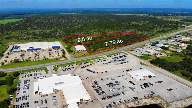 Located only two miles north of the Marble Falls Downtown District and Lake Marble Falls. Prime location adjacent to Lowe's and Furniture Depot with over 2,100' of highway frontage. The 7.76 commercial tract is platted in five individual parcels for future subdividing. City water & sewer are run to the property. Currently Ag Exempt. Owner will also sell an unrestricted 6.5 acre tract adjacent behind this property for $1,424,500.