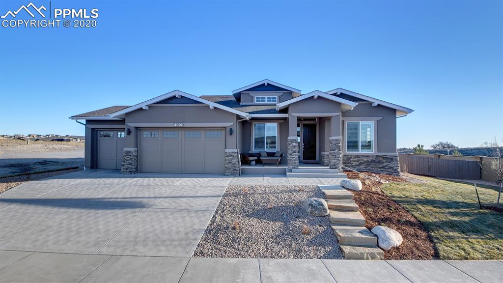"This is a model home (requesting a one year lease with two 3 month options)This ""Boulder Plus"" is an open Ranch Plan that includes a main level Master, main level Guest Bedroom, main level Office, and a 3-car garage. It has 5 bedrooms, and 4 bathrooms. Finished basement with Wet Bar, Jr. Master suite, Rec Room, Games area, and ample storage. Oak Hardwood floors on main level in Entry, Great Room, Kitchen, Dining, and Office. Gourmet kitchen with KitchenAid/Whirlpool appliances, including Oven/Microwave combo, 6-burner gas cooktop, and dishwasher. Granite/quartz countertops throughout the home. Undermount sinks throughout the home. 8' doors on the main level. 