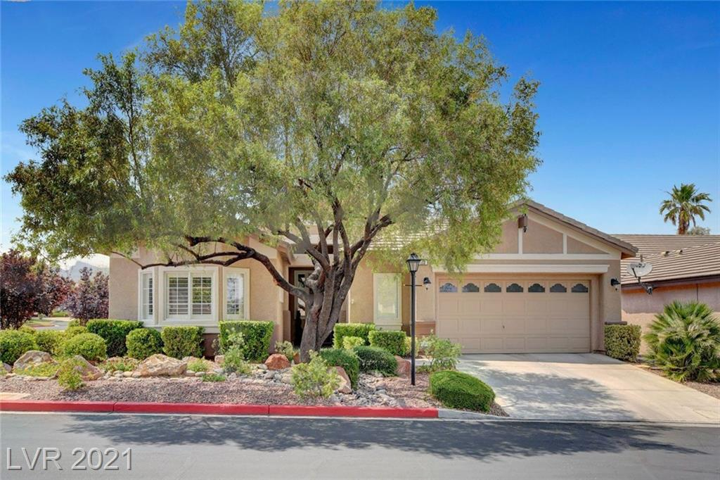 Rare single story home with pool and spa in the gated community of Belvedere!! Located in the heart of Summerlin this home features 3 bedrooms, den, 2.5 bathrooms, 2.5 car garage, large private corner lot location, newer complete HVAC, newer water heater, granite counter tops with large kitchen island, stainless steel appliances, plantation shutters throughout, crown molding, tile floors, open floor plan, covered patio, soft water system and a gas fireplace. Located within minutes of Downtown Summerlin, Red Rock Resort and the Las Vegas Ballpark makes this a fantastic home and location that will sell fast!!