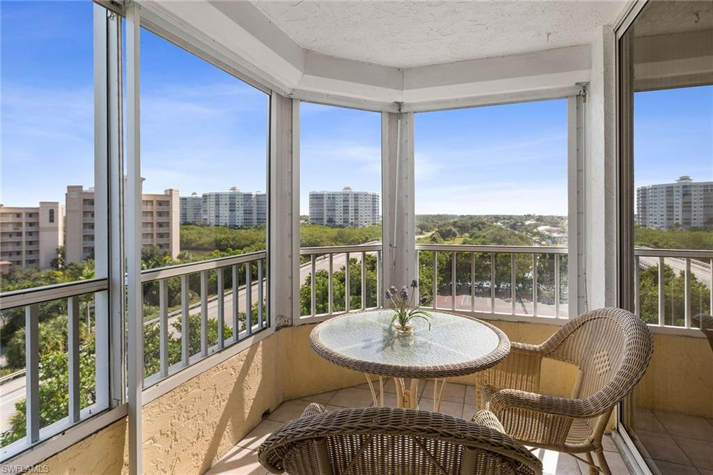 """VIEWS, VIEWS, VIEWS! Rarely available Vanderbilt Beach development corner end unit on the 6th floor of Vanderbilt Landings """"A"""" building. This exceptional location boasts """"2"""" screened in balcony's in which to ENJOY BOTH SUN RISE AND SUNSETS from both! The master bedroom and guest bedroom offer privacy and have their own sliding glass doors leading to separate balcony's. Amazing and beautiful Gulf of Mexico views looking over the Wiggins Pass preserve areas, and Bay views too! This unit has one of the few BEST VIEWS of the GULF in VANDERBILT LANDINGS. Located directly across from Vanderbilt Beach and Delnor Wiggins State Park with a deeded walkway to the beach. Vanderbilt Landings has one of the largest pools and lot size, Tiki Hut w/BBQ, and boat docks. This 6th floor corner end unit also has the BEST of only a few deeded building covered parking spots available, as well as an additional uncovered assigned parking space. This family owned (for more than 20 years) Vanderbilt Beach development condo is unlike any other, and truly a rare opportunity. Make this your family vacation home, your permanent residence, or high income producing investment property. MUST SEE!"""