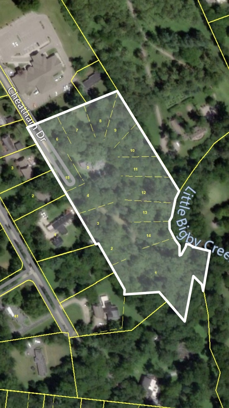 Almost 8 acres previously platted and approved for 15 homes (2002), situated between Trotwood Avenue, Graymere Manor Road and Little Bigby Creek/Graymere Country Club and Golf Course.  Includes 1201 Graymere Manor Road, to allow for two entrances.