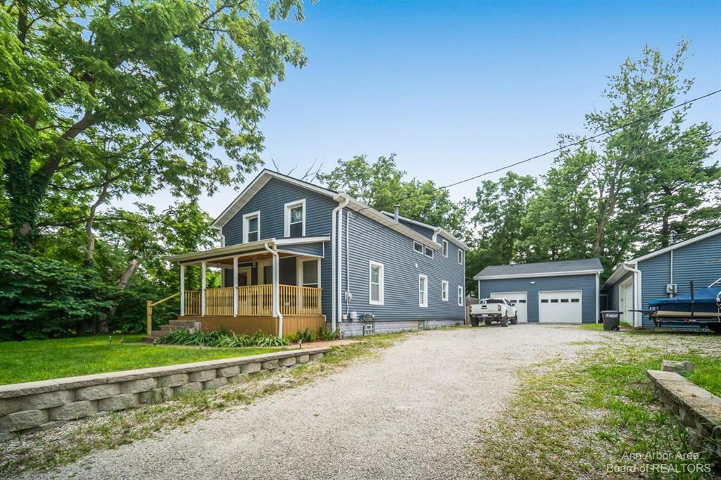 **Back On The Market (Appraised AT Value) Due to NO FAULT of the Seller!!  STOP & say HELLO to this absolute stunner of a home!! Receiving an almost complete whole home renovation in 2016, this 2 Story Gem surrounded by many trees has been customized beautifully for the true Michigan Outdoors Enthusiast. Need to store some ATVs, boats or other toys to enjoy all that Michigan has to offer? Want completely updated bathrooms, kitchen and flooring throughout? How about a fenced in deep backyard with a hang out space perfect for friends and family get-togethers all minutes from downtown and major highways? The kitchen showcases granite countertops, a rustic sink, updated appliances and hickory cabinets. Don't forget to check out those ceilings in the master bedroom with his & hers closets. How about those bathrooms?! Take a step out from your turn-key home and into the 26X48 (spray foam insulated) and 24X30 connected garages where you'll enter into an amazing workspace perfect to tackle mos