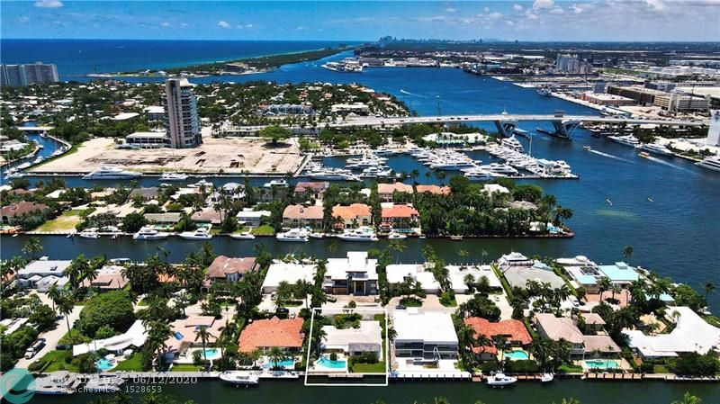 """This Harbor Beach home is priced to sell!! This is an exclusive neighborhood with quick access to Port Everglades/ Ocean access with no fixed bridges., along with the New River and Intracoastal for those sunset cruises! This property has approximately 90' of seawall to dock your mega yacht! The property is approximately 95' wide and approx 125' deep.  As a member of the """"Surf Club"""" you have access to your own private beach club with a BBQ grill/ tables and bathrooms. As a member of """"HBI"""" you have your own FT Lauderdale Police Officer as security patrolling your neighborhood!  As a resident you can walk to all the wonderful events on the beach!  Only serious buyers/investors please!"""