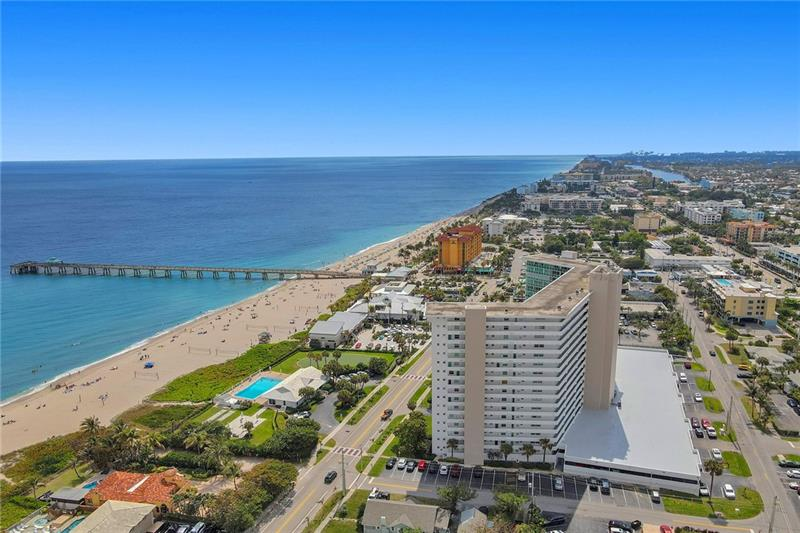 Location, Location, Location! This updated 2BD/2.5BA represents Deerfield Beach living at it's finest! Located in the highly-desirable oceanfront community of Tiara East, you will truly fall in love with the endless resort-style amenities & beach lifestyle. This spacious condo features a remodeled open kitchen, 2017 SS appliances, 2016 W/H, 2016 A/C compressor, impact windows/sliding doors, & a large balcony with ocean views. Amenities include a private clubhouse with 2 new kitchens, heated pool overlooking the ocean, BBQ area, putting green, gym, & more. Close walk to Deerfield's fine dining, shops, international fishing pier, & boardwalk. Washer & dryer can be installed inside unit/covered parking space on same floor. Schedule a showing today before this incredible opportunity is gone!