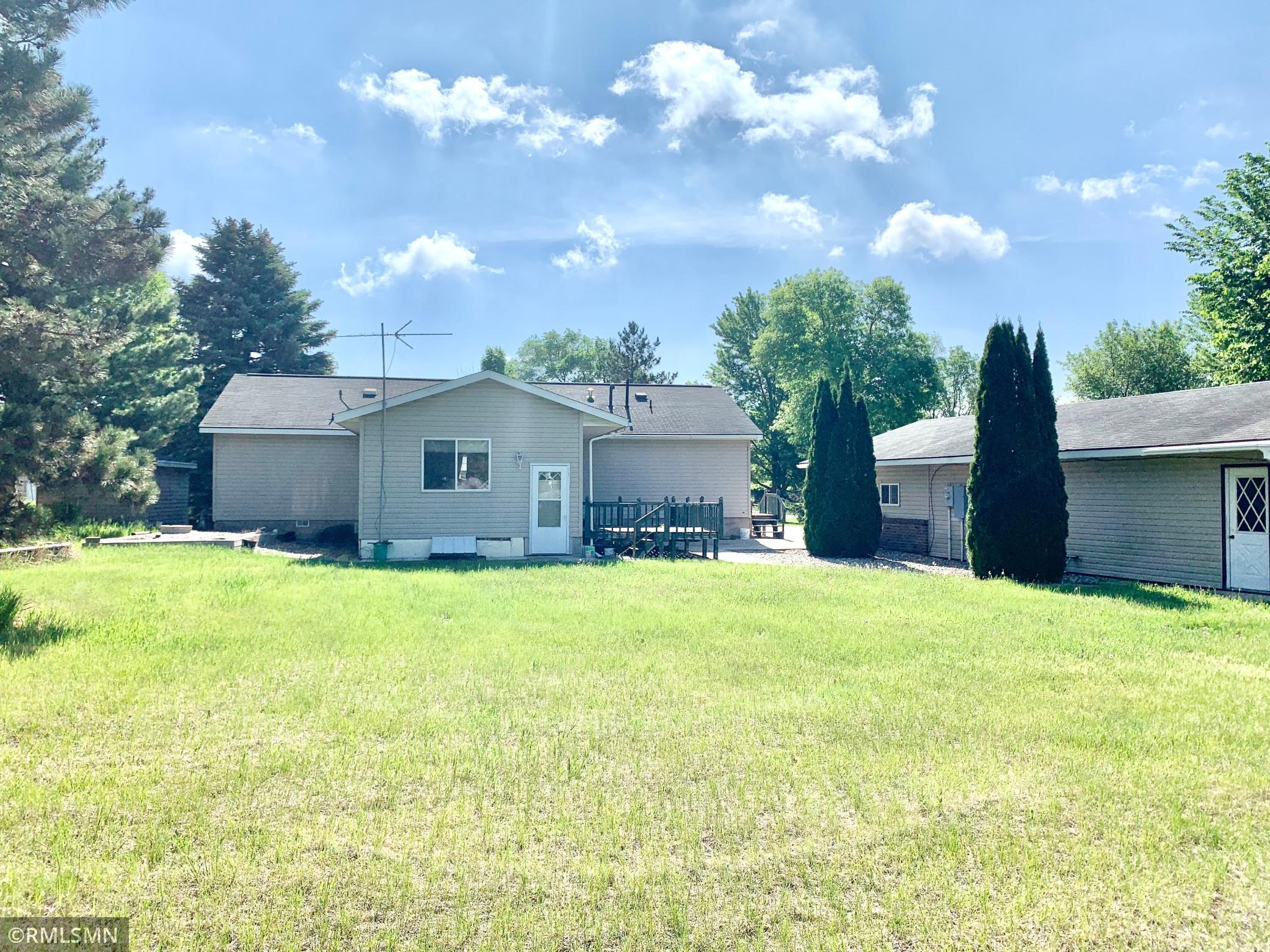 Great location! Walking distance to Nest and George Lakes. Large lot with pear and apple trees. 24X48 garage.