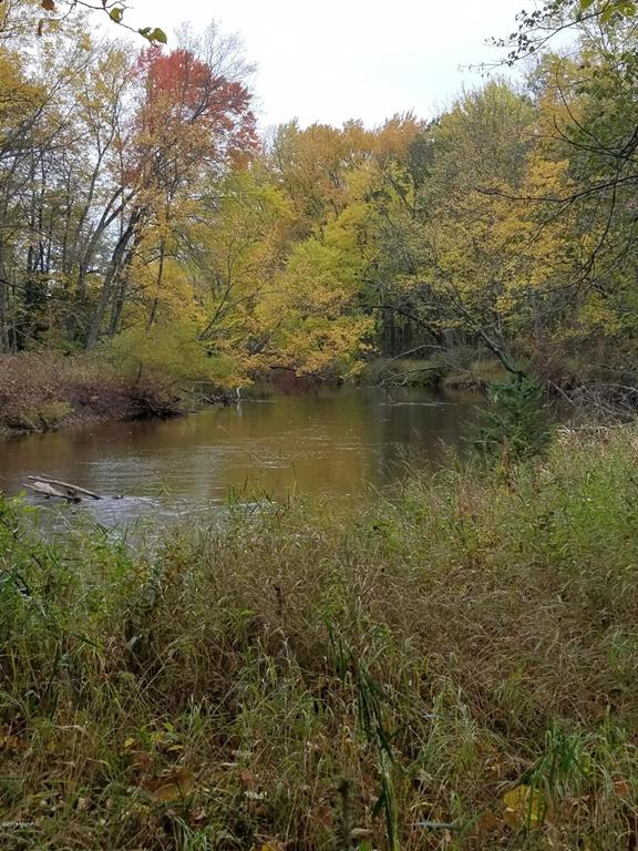 This 32+ acre parcel is about 20 minutes from Harrison and has had deer, bear, coyote, turkey, bobcat, and beaver spotted (and harvested) over the years. It offers 600+ feet of waterfront on the Muskegon River along with waterfront on a pond, creek, and swampy area. There were walking/riding trails throughout, but haven't been used recently and have filled in. There is a variety of Pine, Cedar, Ash, and Maple trees to name a few. Across the river is a large parcel of state land and just down the road is a public park to the river. About a mile to the east of the property you can jump on the Leota Trail.  (see trail map in pics) Need an ATV? Right around the corner the Leota Trails End Pub has ATV and snowmobile rentals! The driveway has been started.