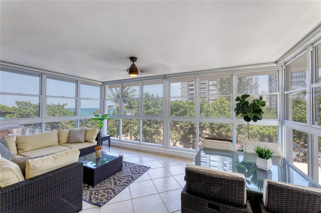 ***UNDER CONTRACT***  Steps from the beach with calming ocean views, enjoy the pinnacle of island living in the city. Create your vision of a perfect home within this versatile canvas accented by a bright and inviting ambience. Showcasing a graciously sized sunroom with floor to ceiling glass windows, as well as a great room and eat-in kitchen. The 2-bed, 2-bath residence is encompassed by an approx. 1,532 Sq. Ft. interior footprint. The master suite provides an expansive layout with accommodating closet space.   Las Olas offers residents favorable amenities, such as guest parking, full-power generator and water cistern. The 18-story condominium is desirably located within walking distance to multiple restaurants, shopping venues, entertainment options and top schools such as St. John's and Robinson. Condado Beach is a highly-esteemed community within the island's thriving capital. Nearby Isla Verde, Old San Juan and the Miramar Arts District.  Monthly Condo Fee: $384.54