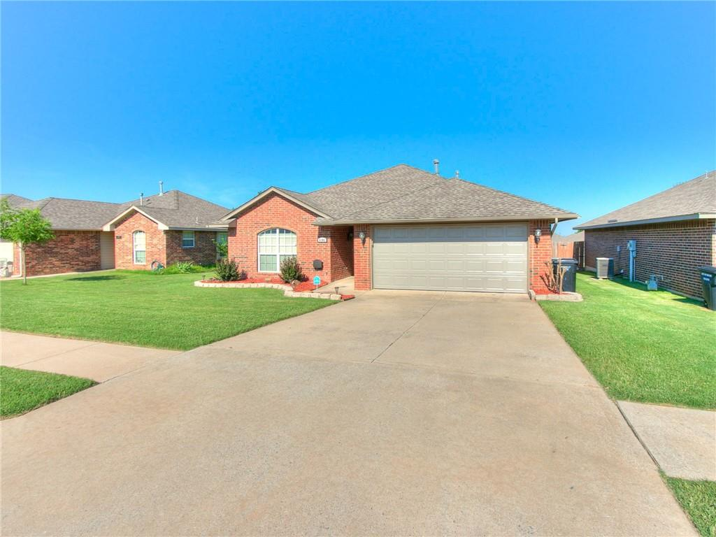 **OPEN HOUSE SUNDAY, 6/20, 2PM-4PM**  Get ready to call this house your home! This beautiful 3 bedroom, 2 bathroom home is just what you have been looking for. Located in the heart of Moore, it is close to all of the food and shopping on 19th Street and has easy access to I-35. Upon entering the home, you walk into the oversized living room with 10' ceilings and a gas log fireplace. The primary bedroom offers an oversized bathroom with TWO walk-in closets. Enjoy Oklahoma's gorgeous sunsets on the large back patio and privacy fenced backyard just off of the living room. This home has been meticulously maintained, making moving in a breeze! Just a few of the recently upgraded items include: HVAC, paint, roof, garage door, and hot water tank. Don't miss out on this amazing home; schedule your private showing today!