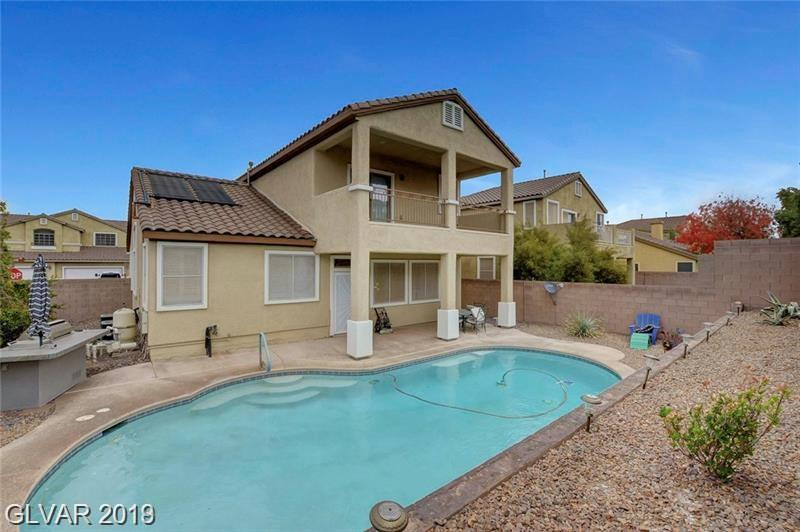 NEWER 2-STORY HOME IN GATED COMMUNITY. SELLER SPARED NO EXPENSE IN UPGRADING THIS WONDERFUL HOME. OVER-SIZED & SOLAR HEATED DEEP POOL. OWNED & PAID FOR SOLAR, CORNER LOT, CUSTOM FLOORING, PLANTATION SHUTTERS, MASTER BEDROOM W/ BALCONY & MOUNTAIN VIEWS, GRANITE COUNTERS, UPGRADED CABINETS, VAULTED CEILINGS, COVERED PATIOS AND MANY MORE!!!