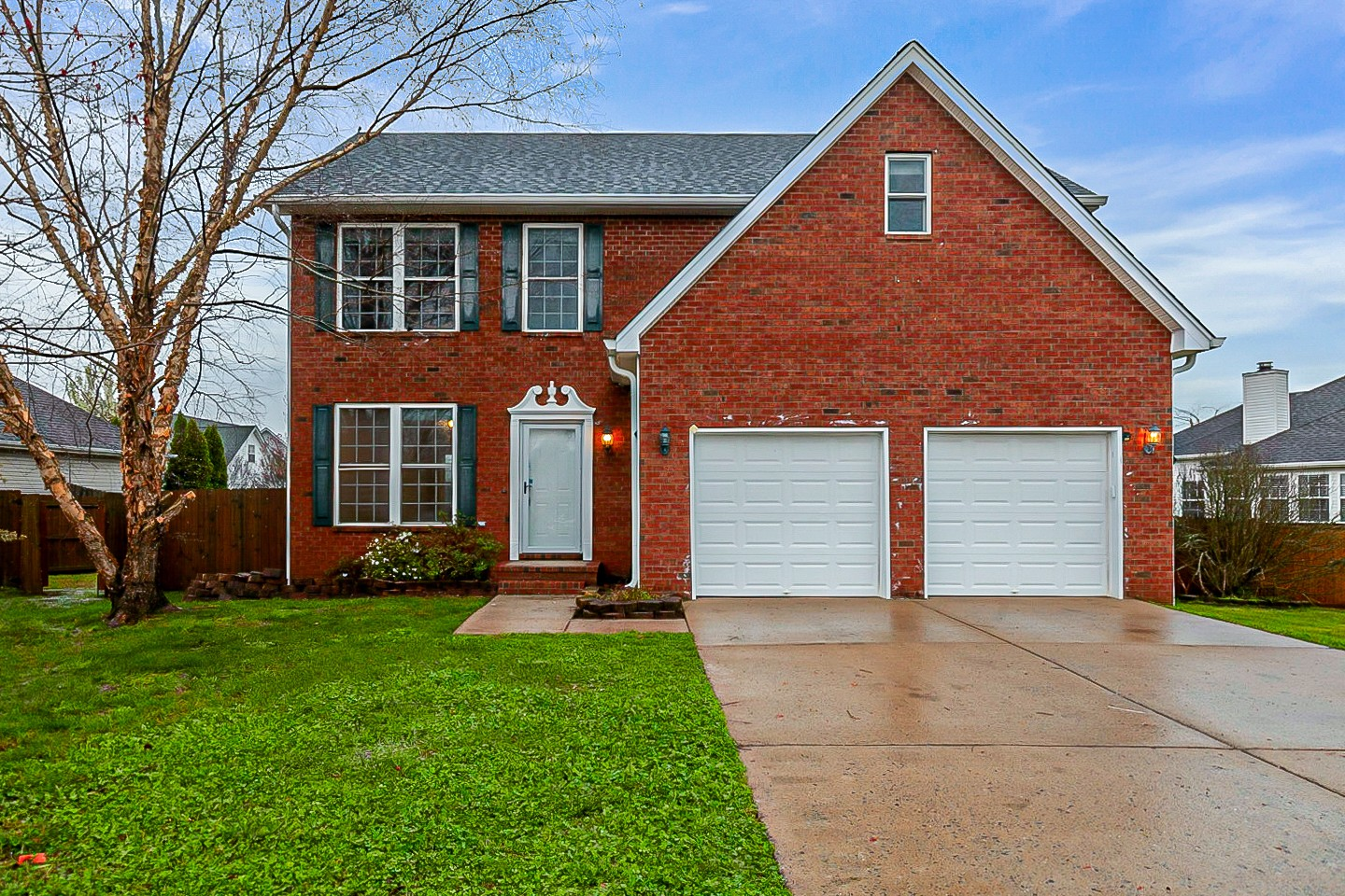 This Spring Hill two-story cul-de-sac home offers a two-car garage.