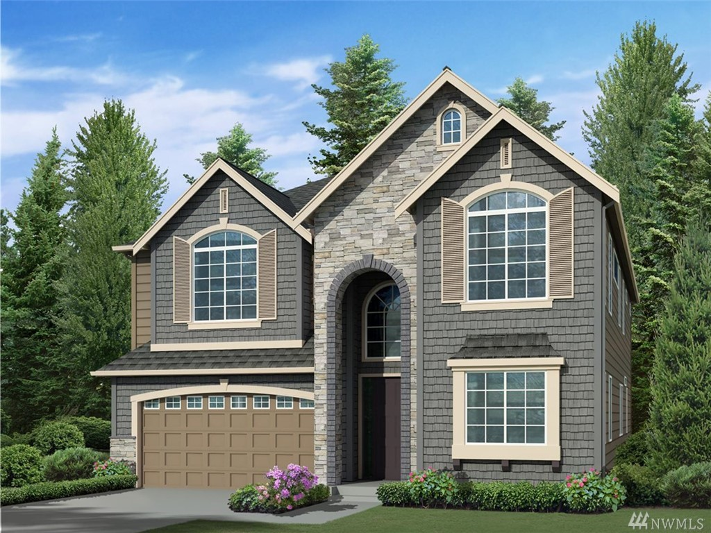 "Lot 142, Greystone IV, ""Hudson"" plan by Murray Franklyn features 4 bedrooms, 4 baths, den, rec room, designed for today's lifestyle! Standard features include stunning slab quartz in kitchen and baths, innovative Kitchen-aid appliance package, 7"" wide plank floors, 8' doors, mud set shower pan and tiled bath wall in master. Full wall of windows allow for natural light! Covered patio off nook! Beautiful community w/ several parks & trails in the Tech corridor of Redmond! Yard has access to park!"