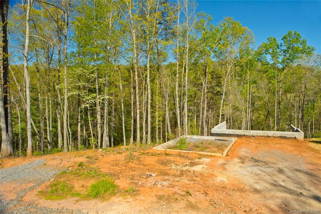 Wonderful interior wooded mountain view homesite, PRIVACY, easy driveway access, good build site, perfect for main level living with walk-out basement, many good house plan options fit this site. Enjoy the mature hardwoods, mountain laurel and native turkeys from your back porch, community hiking trail comes right behind the back yard, enjoy a quick trek down to the rivers edge.