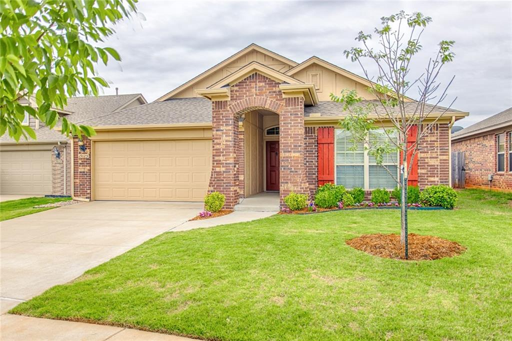 Don't miss your chance to be a part of this great, highly sought after neighborhood community with access to multiple playgrounds, splash-pads, walking trails, gazebos, a pond, and more! This home, located in the Edmond school district, features 4 bedrooms, 2 bathrooms, plenty of storage, and an open concept eat in kitchen/living room with plenty of windows allowing for lots of natural light. This layout allows for a completely private master retreat separate from the other rooms of the home. You will love the custom feel with the vinyl tile feature walls that bring so much character to the home and really sets it apart. This home is move-in ready with fresh paint in every room.
