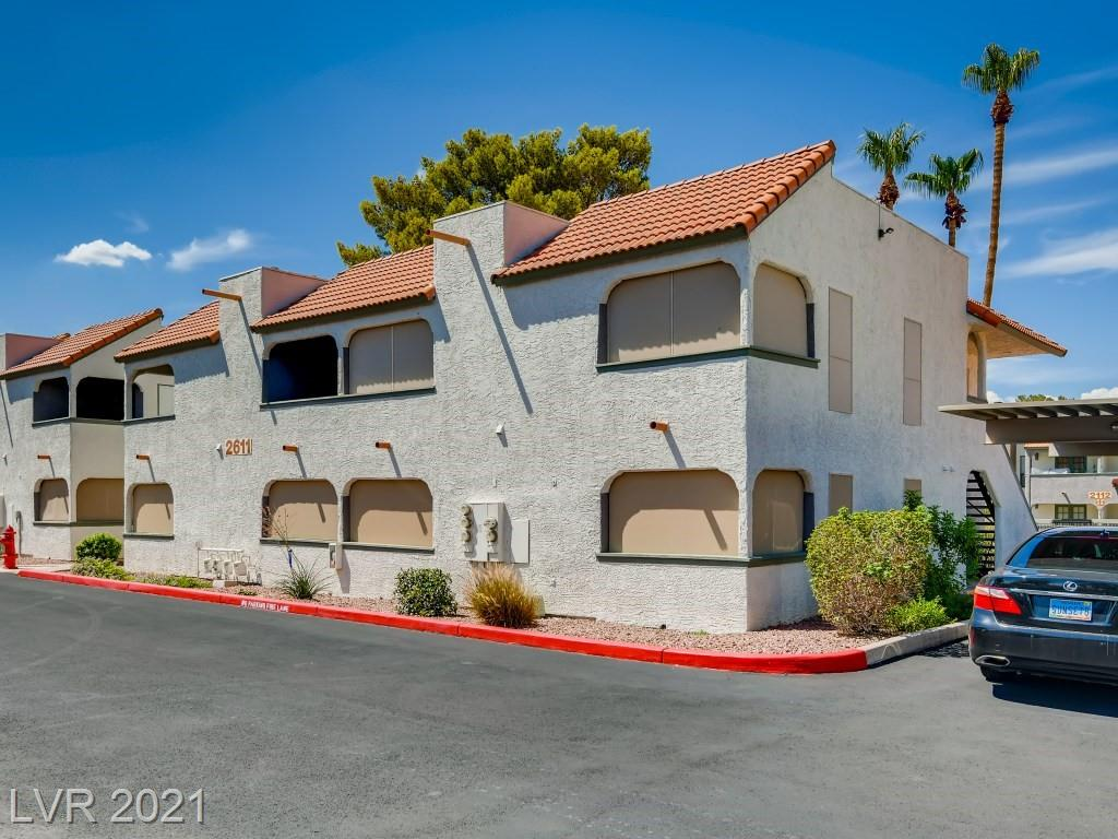 THIS WONDERFUL 2 BED 2 BATH CONDO HAS 3 COVERED PATIOS.  EACH BEDROOM HAS THEIR OWN PATIO & THE ONE OFF THE LIVING AREA OVERLOOKS THE LUSH GREEN GRASS AND POOL*THE COMPLEX HAS 3 SEPARATE POOLS !!  THIS UNIT IS LOCATED AT THE VERY BACK OFTHE COMPLEX AND HAS TONS OF OPEN PARKING SPACESAS WELL AS ASSIGNED COVERED PARKING* THE KITCHEN HAS A BREAKFAST BAR & IS OPEN TO THE LIVING AREA AND PATIO*THE PRIMARY BEDROOM HAS A WALK IN CLOSET -PATIO AND THE PRIMARY BATH HAS DUAL SINK AND A MASSIVE TUB  !! THE 2ND BEDROOM HAS A PATIO AND THE LAUNDRY ROOM IS OFF THE PATIO.  buyer/agent to verify all.