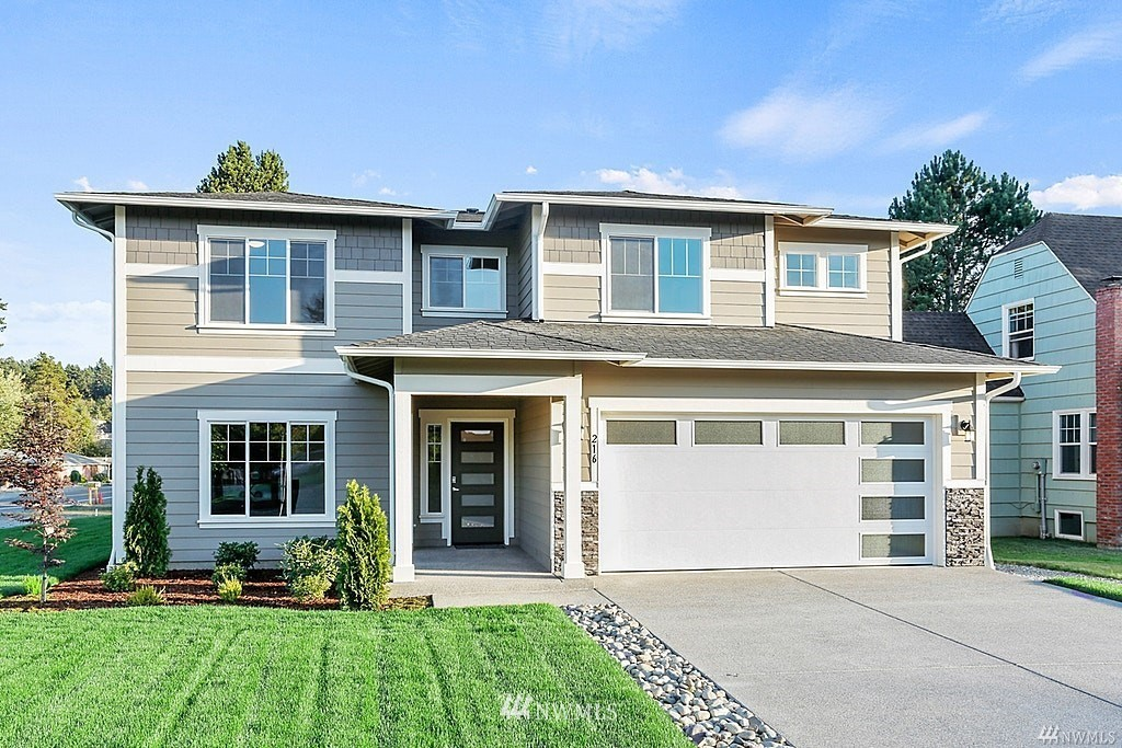 """Welcome to Elk Run - The popular Teton is back w/ a 4 CAR GARAGE! This community is w/in minutes of Bonney Lake Retail/Dining, Lake Tapps & quick access to HWY 410 & 167. 2,978 sq ft of open concept Living Room/Chefs Kitchen complete w/ impressive standard features including 36"""" tall soft close cabinets, 3cm granite OR quartz counters, SS appliances including DBL ovens & pantry. Main floor conveniently offers office & formal dining. Upstairs Spacious master suite w/ elegant French door entry, 5 piece bath & WIC. 3 add. 3bdrms & LG Bonus Rm.  The Teton plan is great for gatherings or relaxing w/ a LG back patio! 4 car garage, Tankless H2O heater, front & backyard landscaping all included w/ beautiful views of the Mt's! Room for RV parking!"""