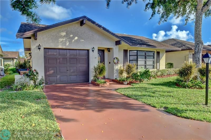 **55+ COMMUNITY** This beautiful 2 bed, 2 bath 1-story home features: Hurricane shutters, 2006 ROOF, A/C 2018, tile floors throughout, newer 6 panel doors throughout, family room, crown molding, French Doors in master, walk-in closet and 1 car garage. LOW HOA includes cable, lawn care, exterior painting and sprinkler maintenance. Active 55+ community with clubhouse, pool/hot tub, tennis courts, billiards room and shuffle board. NO PETS/NO LEASING. Close to shopping, dining and I-95. Short 15 Minute drive to the beach.