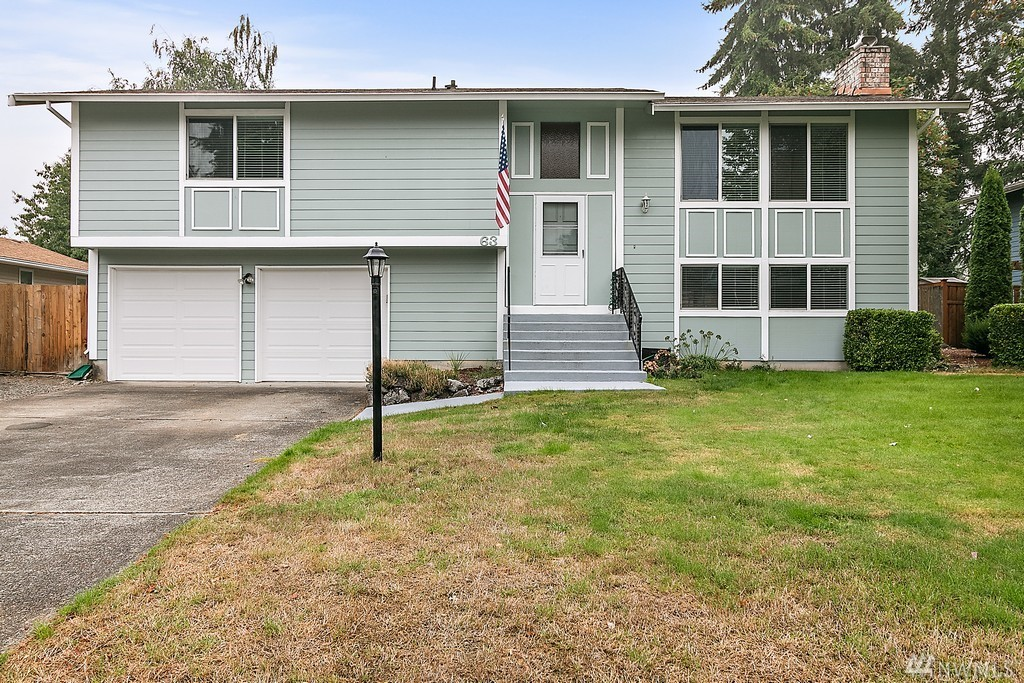 Act now  to see this Four Bedroom 3 bath home in the Highly sought after Steilacoom Historic School District! Large FMR with FP's up and downstairs. Nestled on  a large flat lot in Madrona Park, this one will be grabbed up quick! Updates include Harding Plank siding all around, Newly painted outside and most of the interior. New Furnace, Hot Water tank and Windows. Several garden areas  with Asparagus, Rhubarb and various berries.  Large two level deck, and completely fenced back yard.