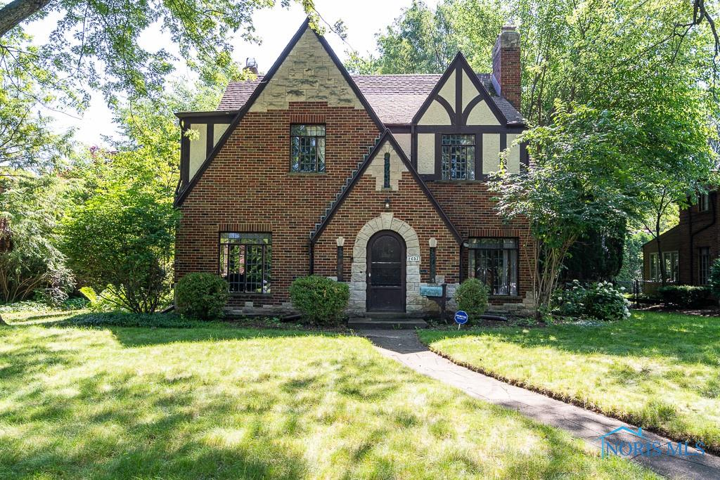 Brick and Stone Tudor in the Heart of Old Orchard. Traditional center hall, circular floor plan. Formal living w/hardwood floors, fireplace, and coved ceilings opens to office with built ins overlooking patio and yard. Formal dining w/corner cabinets. Open eat in kitchen w/butler pantry, terrazzo floors and granite counters. Wide staircase leads to 2nd level w/four bedrooms and 2 full baths. Lower level recreation room w/terrazzo floors and plenty of storage. Attached 2 car garage! Large backyard and located close to Westgate, Cricket West and Express-ways. Excellent Opportunity, Get Inside!