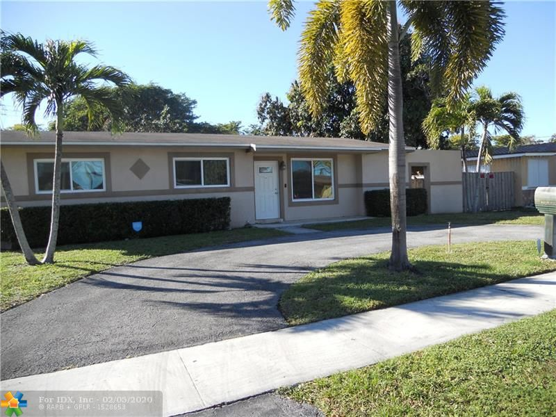 3/2, IMPACT WINDOWS/DOORS!  Partially updated Home.  Move in condition. CLEAN! Laminate, Tile and New carpet in Master bedroom. UPDATED Master bath with shower only. Utility room with laundry facilities.  Screened in patio with an additional covered patio.  Large backyard with plenty of room for a boat, camper or POOL! Circular driveway for plenty of parking.  Roof 2006.  NO HOA!   GE electrical panel UPDATED.  Water Heater 2011, A/C 2005.  Walk to McArthur High School.  Close to Turnpike for easy access to Dade County.  Awning/Canopy in backyard over boat will be removed by seller prior to close.