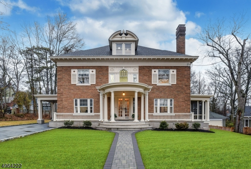 Vacant & can be delivered professionally cleaned with a quick close! Stunning home in the heart of Maplewood near town & NYC trains with incredible living space, period details & designer decor. No detail was overlooked in this stately & elegant home set on nearly 1/2 acres. Find polished hardwood floors & custom carpets, exquisite millwork, designer paint palette, custom window treatments & California Closet systems throughout.  Chef's kitchen with waterfall edge island, marble backsplash, high-end appliances & butler's pantry with 2nd dishwasher.  Master suite with gas fireplace, custom walk in closet & marble bath with steam shower.  2nd floor laundry center. 2016 updates include: HVAC, plumbing & electric, roof, patio, front porch & driveway; professionally landscaped property with sprinkler system.