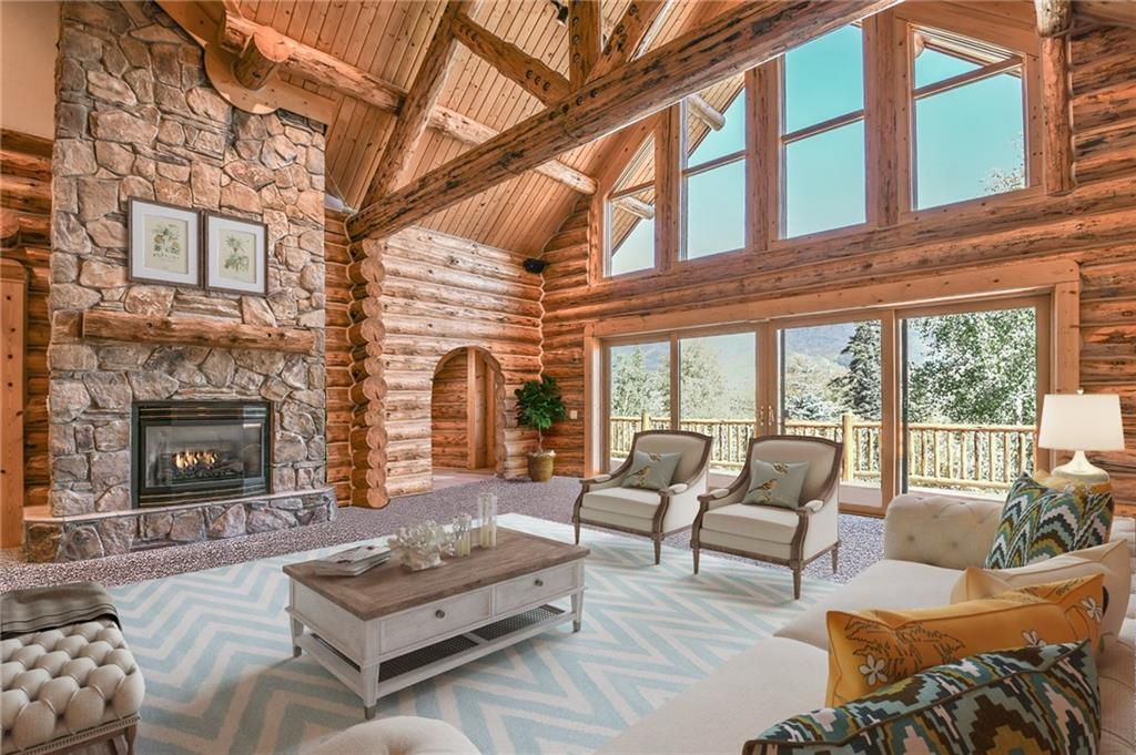 If you like log homes & privacy then this a must see! Handsome Montana Log home nestled in the trees in Willow Creek Highlands on a quiet cul-de-sac. Enjoy your mountain surroundings on an over an Acre lot. This 5 BD, 4.5 BA home has several wonderful spaces for entertaining inside & out. Large kitchen & great room inside with windows facing your private back deck & yard. Large deck with a hot tub. Attached 2 car garage. Being sold partially furnished. Unbelievable Sq. Ft. price for log home.