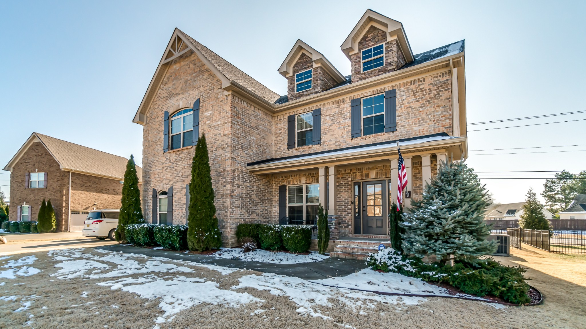 MULTIPLE OFFERS - PLEASE SUBMIT HIGHEST AND BEST BY 1/17/21 AT 6PM.  All brick & stone Williamson/Spring Hill home. Featuring a spacious, open kitchen/living area, full stone fireplace inside, 5 inch hardwoods. Enjoy your evenings on the fully covered side porch with arched entryways. You will LOVE this home and won't find anything to beat it on the market in this county! TV, lights & curtains on patio to remain. Please see notes in documents for further information.