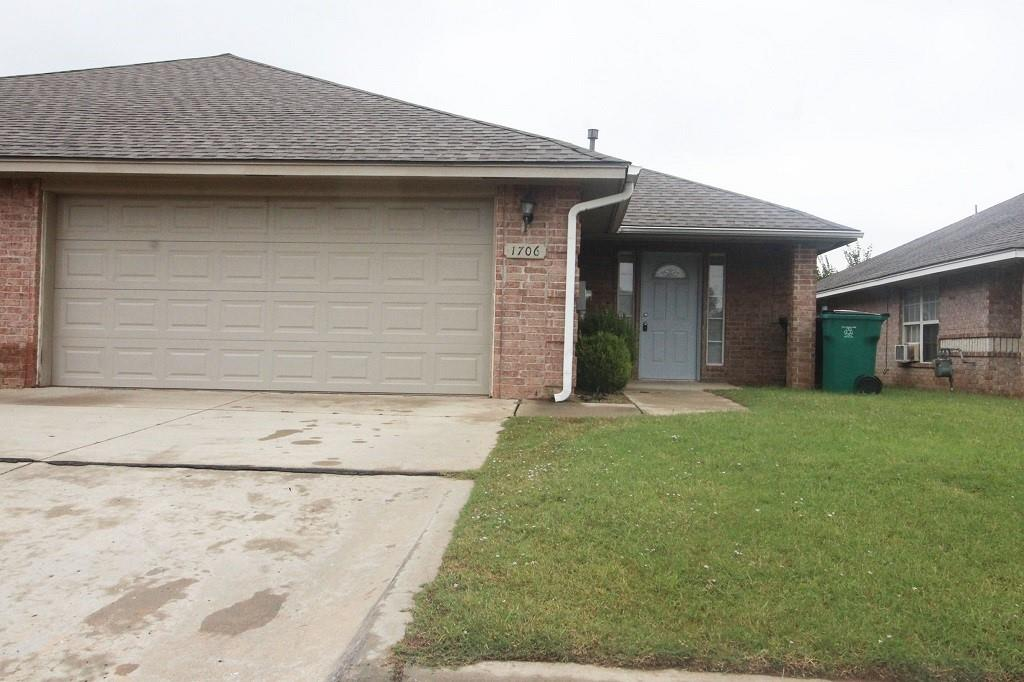 Large three bedroom, two bath brick duplex is located just off of Morgan Rd. Mid size floor plan has an open feel with the living and ranch style dine in kitchen. Each bedroom has large closet space, ceilings fans and vinyl plank throughout the entire unit. This home has central heat & air, washer & dryer connections, granite countertops, utility closet, two car garage and a privately fenced in back yard!