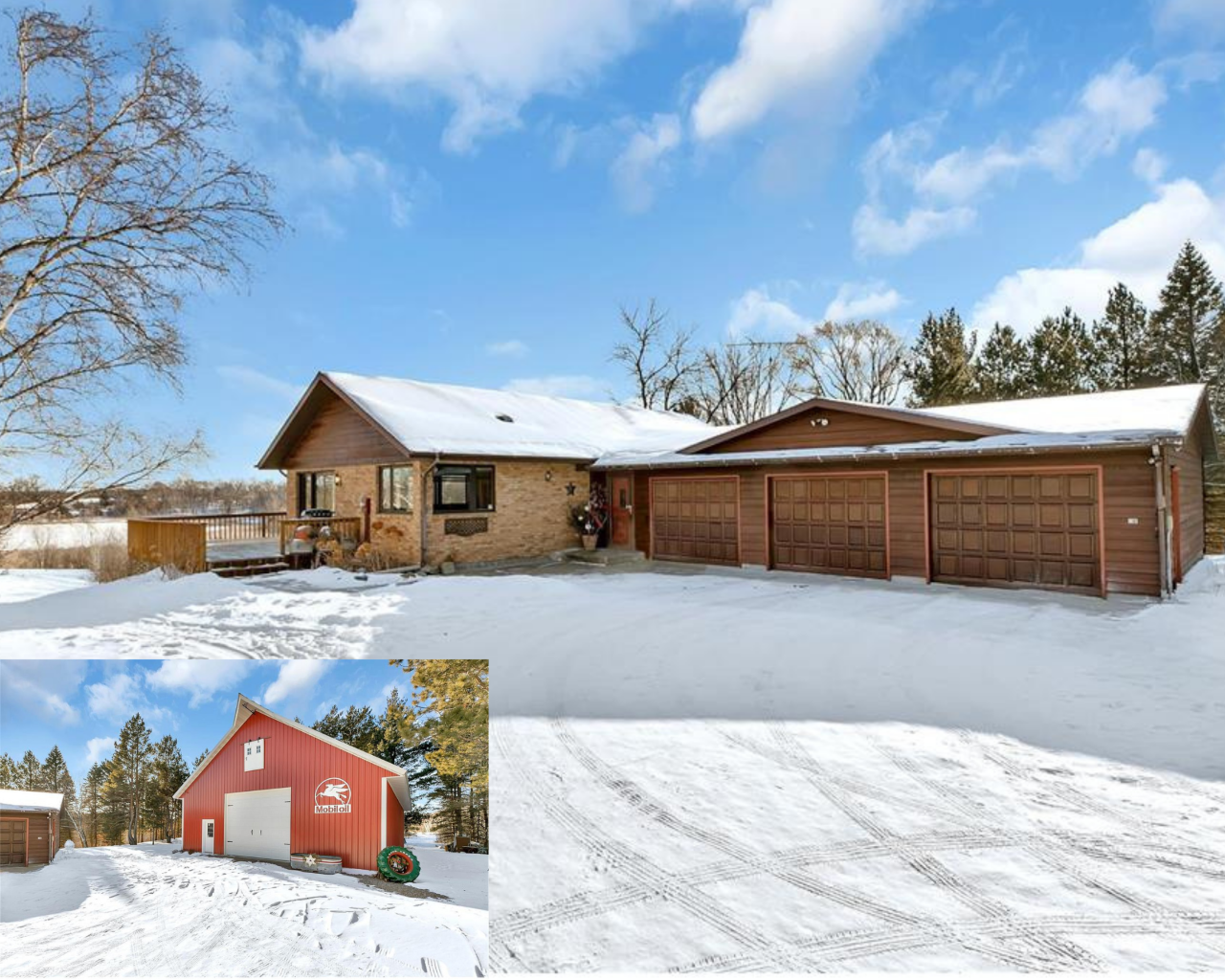 Looking for country living? You could enjoy 20 acres near Cold Spring. Located in a private setting. This 3 bedroom 3 bath walkout rambler features a kitchen with granite tops, oak cabinetry, tons of windows with natural lighting. Main floor master suite with jacuzzi jetted tub, walk-in closet, office & den that could be used as an additional bedroom, laundry off the garage and 1/2 bath. LL features a wet bar, large family room for entertaining your guests, rec room, full bath, 2 bedrooms and utility rooms. 3 stall 30x35 attached garage with over head storage. Large deck with nice view of a pond, lots of wildlife. Enjoy the trails throughout the property. Mature trees including apple trees. Back up generator hookup. Power line easement on property. Don't forget to check out the 40x56 pole building with electrical & concrete flooring. Rocori School District. You don't want to miss this one! Check out the virtual tour!