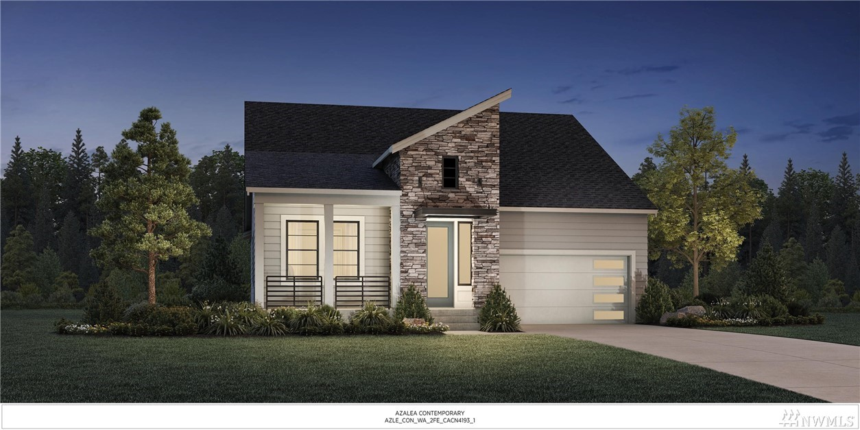 Introducing The AZAELA Contemporary Plan. A Single Level home, featuring 10' ceilings, 8' doors, Open Kitchen/Dining/Great Room, Master Suite w/ two additional bedrooms, bath, Laundry room & 2 car garage. Fenced back yard with front/back yard landscaping. This homesite backs to neighboring trees and has mountain views to the South. Presale opportunity. Limited Time Incentive - Up to $10,000!