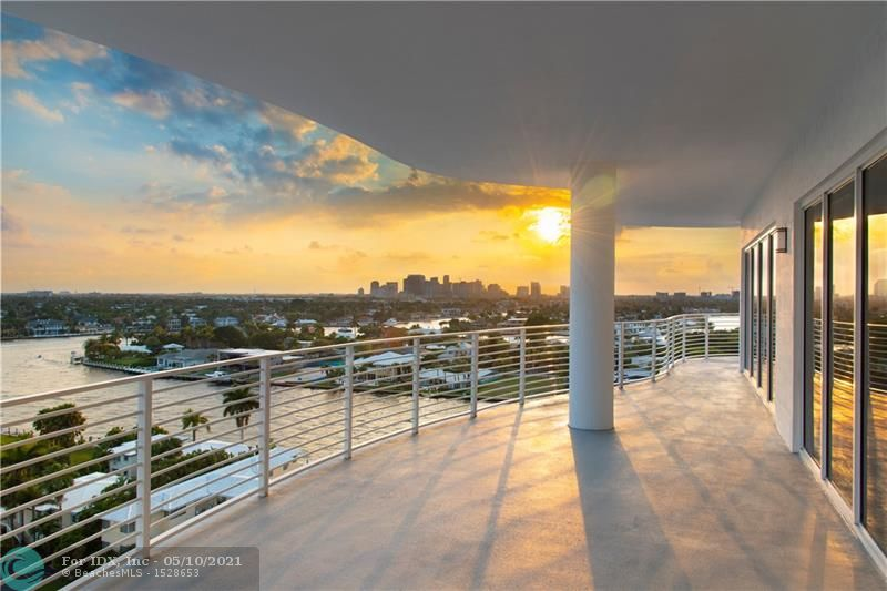 2 story penthouse with the most amazing views.  Watch sunrises and sunsets from your over 4800 sqft of balcony. 360 degree views. Open floorplan.  Great for Entertaining.  Boutique building with only 17 residences.  In the heart of North Beach village  Walk to beach, Fine dining, Shopping, Park, and Las olas.  A must see.