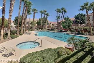3 Bedroom condo in Green Valley with a garage for only $210,000. Rare find in great gated community with sparkling pool/spa, pool table, workout rooms, meeting space, and more. Minutes from The District and Green Valley Ranch Station Casino.