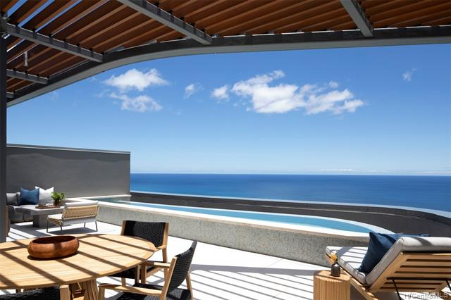 Your own private pool and rooftop terrace along with over 5,819 sq ft of luxury living, with high ceilings and stunning ocean and city views! Quality design and finishes selected by Rottet Studio, and furniture/art collection included by Cantoni and Tantalus Studio. Come home to Anaha, as this home is turnkey and ready.