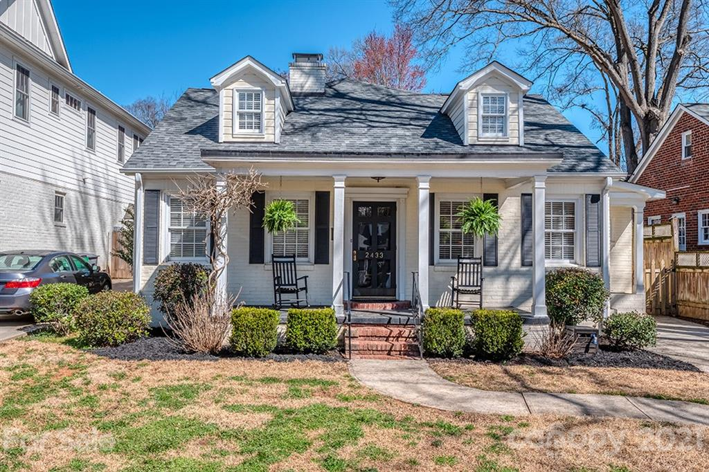 Classic meets contemporary in this Chantilly stunner with an abundance of curb appeal. Starting with the rocking chair front porch overlooking the tree-lined street, enter into this bright and sun-filled home. Hardwoods and high ceilings are complemented with crown molding throughout. Downstairs, the kitchen, dining and living rooms flow well together and there are two first-floor bedrooms and bathrooms along with a great room that flows to the patio for entertaining. Upstairs, the primary bedroom features a walk-in closet along with an additional wall closet. An additional bedroom and bonus loft space is perfect for a home office. The upper-level deck completes the upstairs. A storage shed and gorgeous landscaping to complete this picture-perfect home. Walking distance to Plaza Midwood, Elizabeth and a short drive into Uptown.