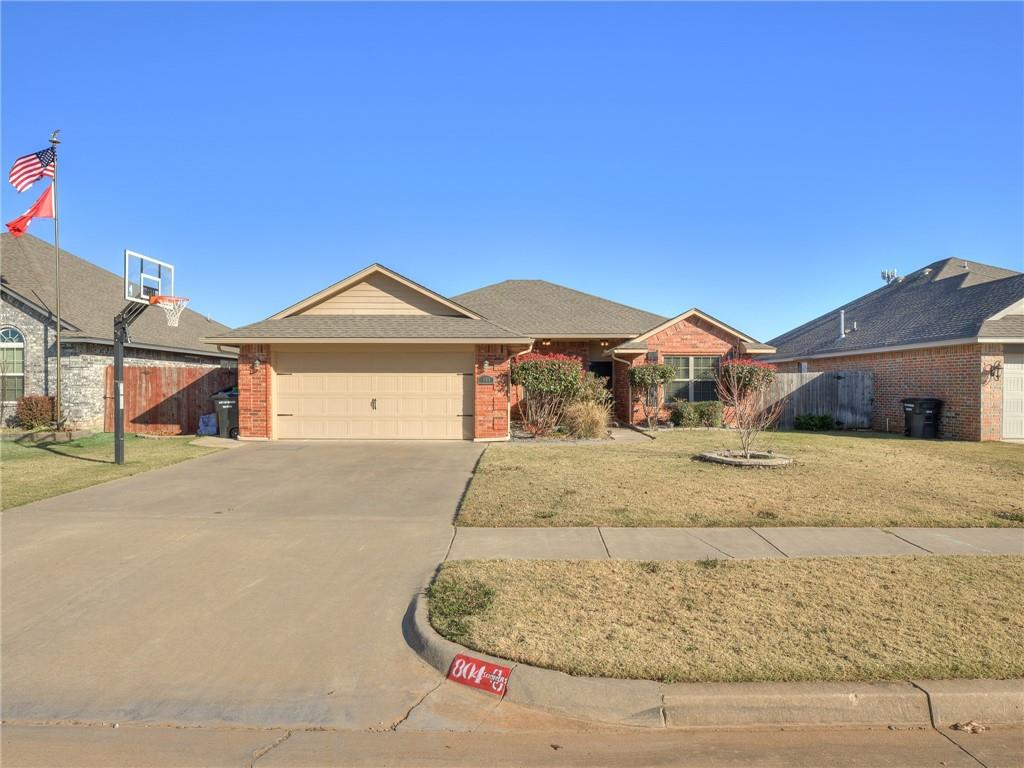 Come see this energy efficient, one owner, move in ready home in Moore Public Schools! This home has a split floorplan with 3 beds, 2 baths. The kitchen has gorgeous maple cabinets, tile back splash, granite counter tops, all SS appliances, including a gas range. Master bath has a massive walk in tile shower, his and her granite vanity, and a whirl pool tub. Secondary bedrooms are good size. All counter tops are tall and have granite. Garage is currently split with an added living space, sellers will convert back to 2 car garage unless asked not to. Nice sized backyard with covered patio. This home has been so well loved and maintained. Fantastic location, easy access to all of Moore or to the highway for Oklahoma City or Norman. All this space lacks is new homeowners.