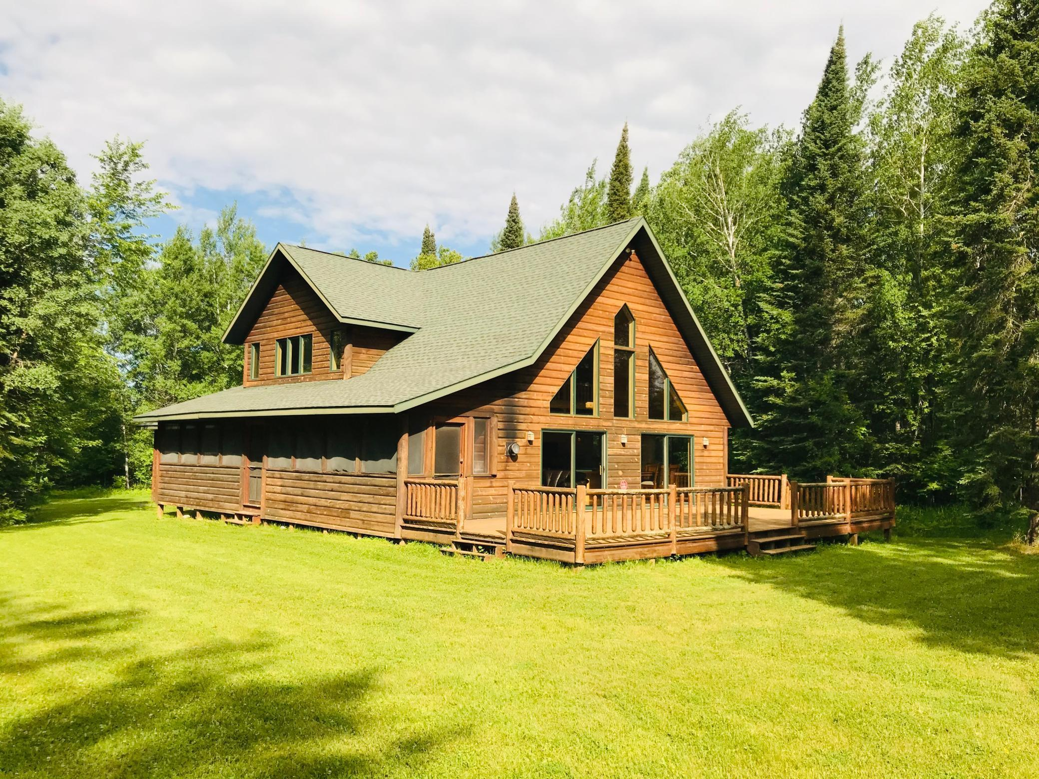 Exceptional northwoods home/cabin located on Bass Lake (31083900) near Max in NW Itasca County. Excellent lake with good water quality and fishing. Quiet spot. Home features open floor plan with vaulted ceilings, fireplace, screen porch, deck, central air, and only about 15 easy steps to lake. Very, very nice place! Bass Lake is 210 acres in size.
