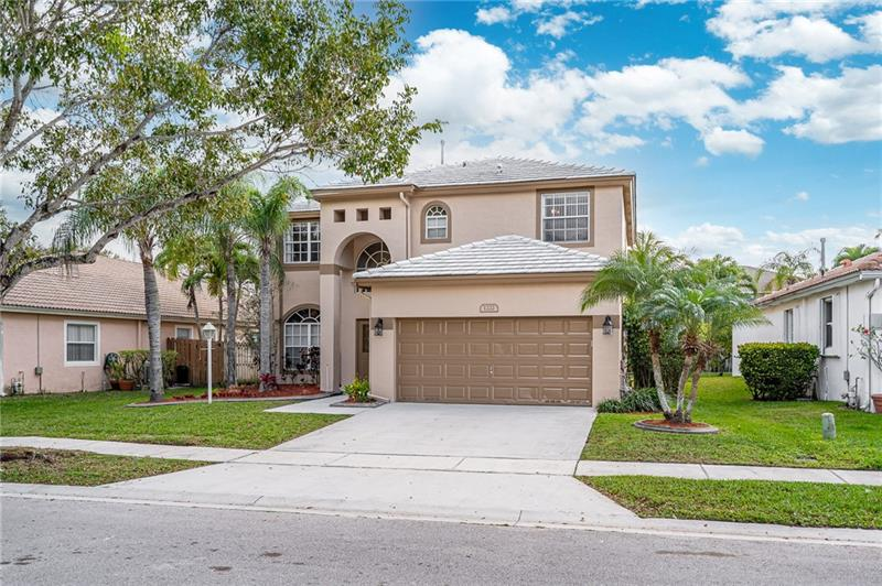 Welcome to Pembroke Falls, located in the heart of Pembroke Pines Florida. This upscale gated community offers resort style living. Your new two-story home in Pelican Trace, has been freshly painted, has over 2,575 square feet of living space, 4 bedrooms and 2 ½ bathrooms. Also featuring an open kitchen with breakfast nook, a snack bar that overlooks your family room, a large living room with a formal dining area. Upstairs you have a spacious master bedroom with a walk-in closet, soaking tub and separate shower. The backyard is waiting for you, with energy efficient natural gas line and with room for a pool, your oasis is here. Your community also offers a Resort Style Club House, with a heated swimming pool, spa, gym, walking track, tennis courts, basketball courts and so much more…