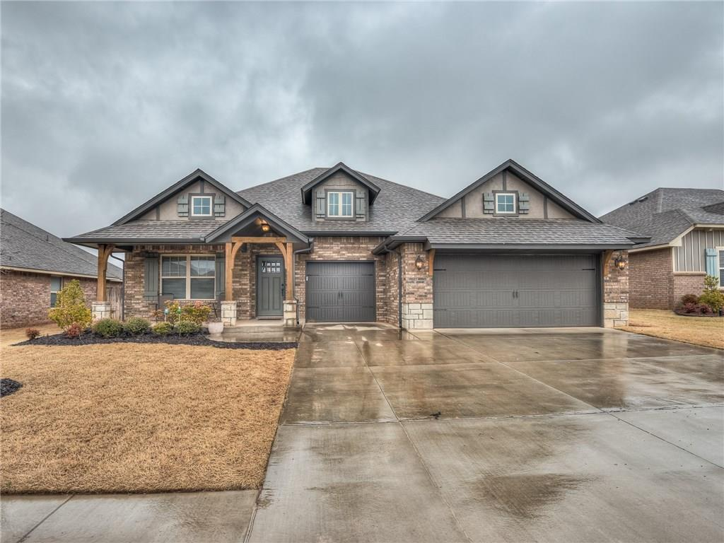 Remarkably clean and well kept TABOR resale. Home features 4 bedrooms - could be office/game room/man cave, storm shelter, full sprinkler system, Rinnai tankless water heater, whole home air purification system and fresh air ventilation; Kitchen inc stainless matching appliances, 60/40 sink in center island, custom cabinetry and granite throughout and a great view off the back patio. The neighborhood is family centric with trails, pond, pool, park and clubhouse for owner use. Easily located to KPT, Hefner Parkway, shopping, dining and more. Move out to a country feel with a neighborly feel.