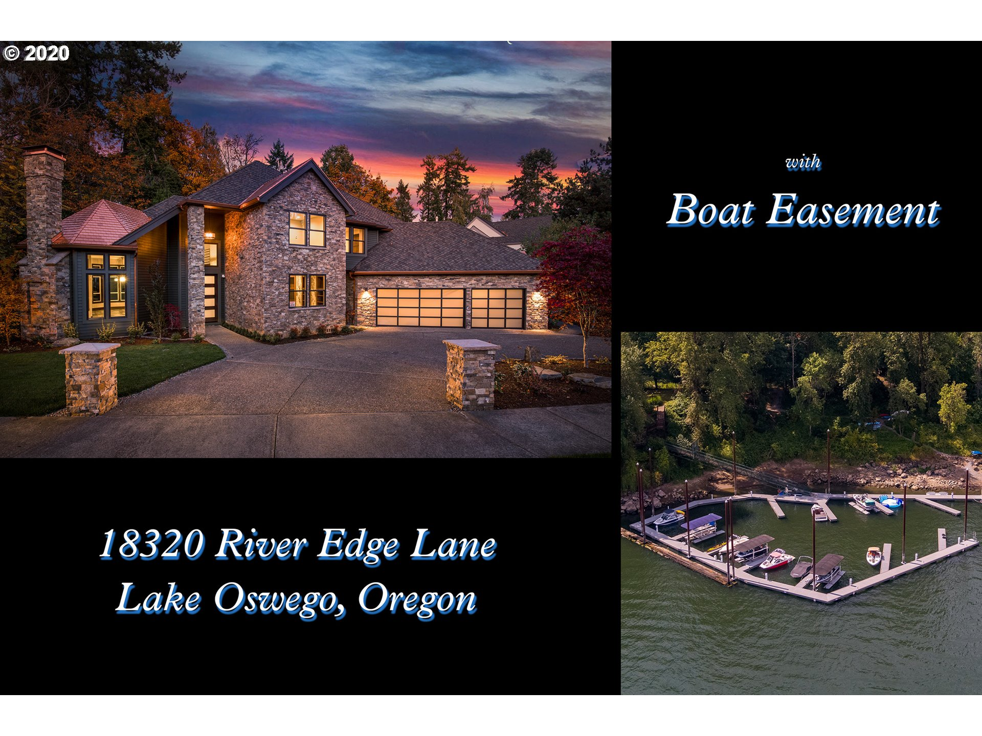 Completely remodeled 4,608 sq ft Lake Oswego's Old River Woods feels like beautiful new construction. Gorgeous finishes - dark stained wide plank white oak floors, thick walnut trim, Thermador SS appliances, & porcelain slate-look tile, incredible master with huge walk-in shower and free standing tub. Four bedroom suites, media rm & office, marina with 30' boat slip included on Wilamette River & covered sunstream hydraulic lift.