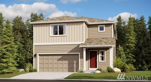 The Reisling home on private lot at Carrington in Fife, WA  by LENNAR. This 2,438 sq.ft 4BD/2.5Ba + Loft & Den. This gorgeous home boasts a walk-in pantry off of the open kitchen with luxury finishes atainless steel appliances. Upstairs you'll find all 3 bedrooms with walk-in closets plus large master suite, bath and a spacious walk-in closet. There's even a HUGE loft  that lends itself perfectly to a home office or game room. Fully fenced & landscaped. LENNAR=everything's included!