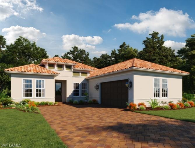 "Huge price reduction originally $974,501. This fabulous Ashton Woods 4 bedroom plus study pool home is situated on a South Eastern Exposure lot with a stunning lake view in Marsh Cove. Your kitchen comes with 42"" white Wellborn cabinets, quartz countertops, gas cooktop and wall oven, gray tile backsplash and a single basin undermount sink. Upgrades in this home include pool with screened in lanai, 6x36 woodlook tile flooring throughout common areas, french doors with impact glass in master suite, impact windows throughout, outdoor kitchen stub out, added shower head to master shower, 3 car garage, tray ceiling in master suite and utility sink stub out in laundry room. You'll notice Ashton Woods' high standards and inspirational design throughout every room - from the well-designed kitchen to the luxurious master suite with top of the line finishing's. Estimated completion: September 2019. Own in the exclusive community of Fiddler's Creek. Amenities include 54,000 square foot Club and Spa with resort style multi pool aquatic complex, water slides, hot tubs, 18hole Arthur Hills designed Creek Golf Course, tennis courts, The Tarpon Club, fitness center, nature park and much more!"