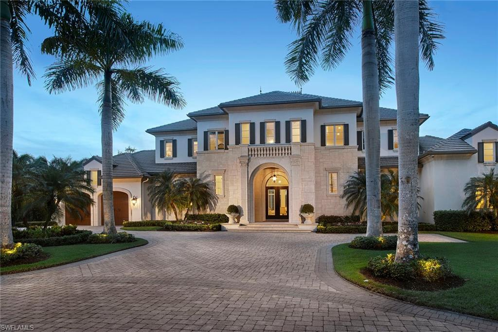 This spectacular custom estate in the exclusive Estuary at Grey Oaks resides on a secluded, private homesite with picturesque western lake, preserve and golf course views.  Handcrafted in 2007 by Borelli Construction and designed by Stofft-Cooney architects, this home features over 7,600 square feet of luxurious living including 5 bedrooms all with en-suite baths, dual studies, dual owner's suite baths and a second story loft.  This impeccably maintained estate has recently undergone several updates including Legno Bastone wide plank wood flooring in many areas, a refreshed kitchen with new Sub-Zero refrigerator and fully remodeled owner's bath.     Additional features include a walk-in climate controlled wine room, comprehensive Savant home automation system, four car garage and a spacious covered outdoor living space complete with outdoor kitchen including Wolf/Sub-Zero appliances, pool and spa all overlooking the serene lake, preserve and golf course beyond.  A world of luxury awaits you in the centrally located Grey Oaks Country Club community.