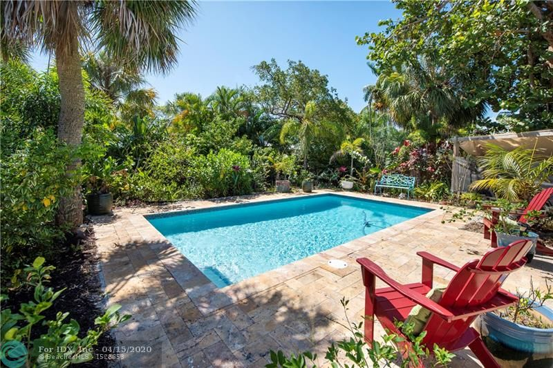 Only a few steps to the happenings on Wilton Drive from this wonderful 2 bedroom / 2 bath pool home. Newer heated saltwater pool. New hurricane impact windows. Roof only 4+ years. New kitchen and stainless steel appliances. Great open floor plan. Cabana bath. Lush landscaping with tons of privacy. A true gem in the heart of popular Wilton Manors. Footsteps to Hagen Park with tennis, volleyball, basketball, kids play park, and much more. Could be an amazing vacation rental property or an ideal primary residence.