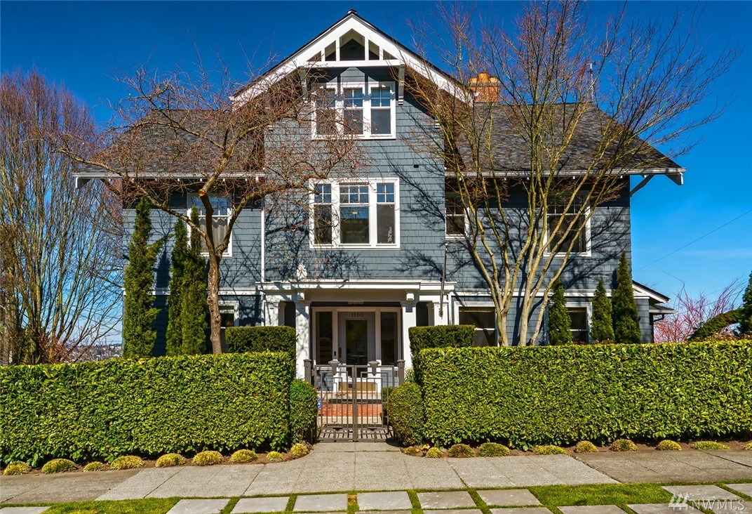 Classic & Sophisticated on North Capitol Hill. Embrace the best of this timeless architectural style on an expansive & private lot ideally located within minutes of everything. Airy, light filled spaces with white millwork fill the 5,590 sq ft residence. Spacious master and five additional bedrooms including an ADU or guest apartment. Space for everyone in this floor plan that makes entertaining easy. Enjoy mountain views from this perfect spot. Casual cool. Classic Charm. An idyllic setting.