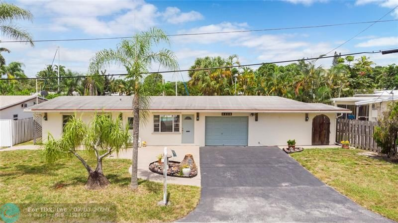 **Deep Waterfront Ocean Access** 3 Bedroom, 2 Bath, 1 Car Garage Pool  Home is available for the next Owner/Family to enjoy**Water Frontage is 37' on a short canal that goes into the New River allowing a beautiful, tranquil, scenic boat ride directly to the **Ocean with NO FIXED BRIDGES**. Enjoy a 30 minute boat ride to Las Olas for dinner. **Open Ocean just under an hour** You may dock Sailboats, Yachts and Large Sport fisherman yachts**New seawall in 2009 with new Retainer wall** Kitchen partially upgraded. Master bath upgraded. Guest Bath upgraded. Single car garage has a large work area.** Property is not in a Flood Zone**Community Boat Ramp**Don't miss out on the opportunity to own a piece of paradise***