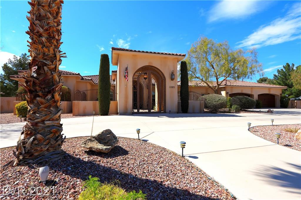 FABULOUS ITALIAN STYLE PROPERTY, WITH CUSTOM HOME OFFERING EVERYTHING YOU COULD IMAGINE! JUST OVER AN ACRE, CORNER LOT W/ LUSH LANDSCAPING & A 4 CAR, OVERSIZED GARAGE. NEWER, HIGHLY UPGRADED JENN AIRE APPLIANCES, DOUBLE OVEN, 6 BURNER RANGE, ISLAND & BREAKFAST BAR!  ENORMOUS LAUNDRY ROOM W/ BUILT-IN CABINETS & SINK, MASTER SUITE OFFERS FIREPLACE, COFFEE/TEA KITCHENETTE WITH FRIG. MULTIPLE SHOWER HEADS AND STEAM SHOWER, GARDEN TUB, HIS AND HERS FULL WALK IN CLOSETS WITH BUILT-INS & FRENCH DOORS TO BACK YARD!  ALL BDRMS ARE ENSUITE! HUGE WRAP AROUND COVERED PATIO, GIVING YOU THREE SEPARATE AREAS TO ENTERTAIN! ALL WOOD LAMINATE FLOORS THROUGH OUT THE HOME, FABULOUS IN HOME GYM, FORMAL DINING ROOM, INVITING FAMILY ROOM W/ FIREPLACE, INSIDE AND OUTSIDE OF THE HOME WERE PAINTED THIS YEAR. HAVE FUN WITH YOUR OWN HORSESHOE PIT, FRISBEE GOLF, PUTTING GREEN & OUTDOOR FIREPIT, OUT BUILDING W/ STORAGE, CHICKEN COOP, RAISED GARDEN, & SO MUCH MORE!  HOME IS BEING SOLD WITH ALL FURNISHINGS!