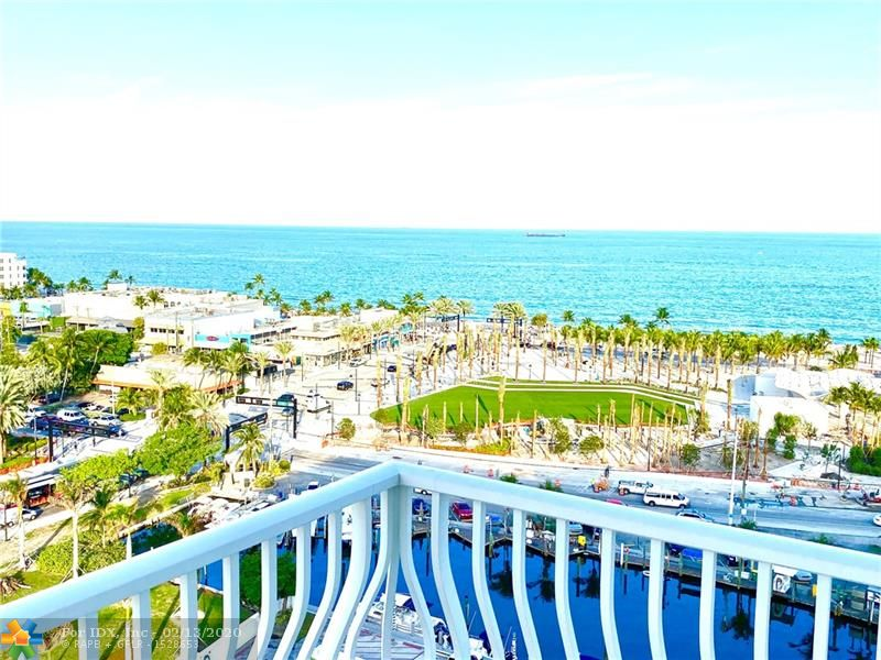 """Breathtaking direct Atlantic ocean, canal and Intracoastal Waterways views from this 14th floor wrap around balcony condo located just across from the beach. Two large bedrooms / two bathrooms nicely furnished. One of a kind very desirable corner views.  The Venetian is a fabulous """"Resort style"""" building with Tiki Bar, Spa, Pool, Gardens, Library w/ free WiFi, 24hr Security, table tennis/ping-pong, billiard and a large fitness center. One of the few boat docking facilities situated on Las Olas, beach and Intracoastal areas with no fixed bridges. Dockage as available. The Venetian is conveniently located minutes away from the downtown business and entertainment district and a short drive to the Fort Lauderdale International airport. Location, location, location! A must see!"""