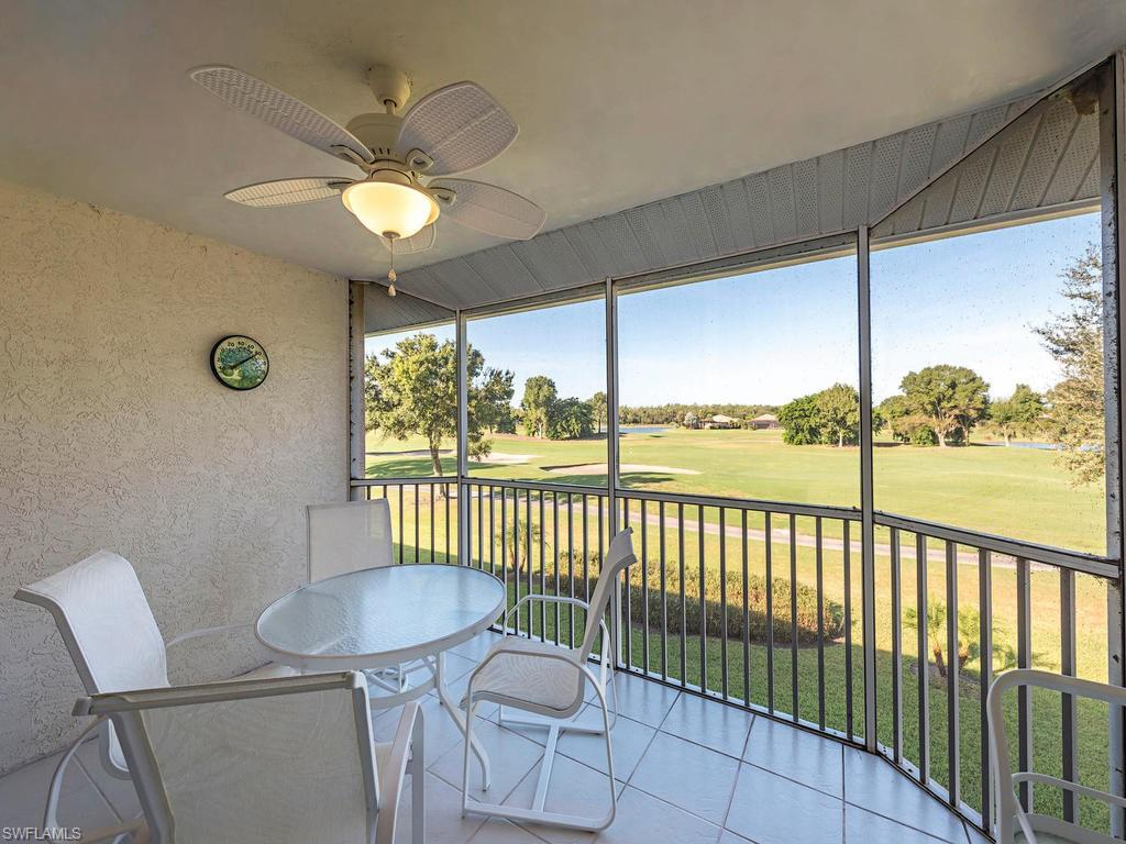 C.16616 - This Light and Bright 3 Bed 2 Bath condo offers the best in the Lely Resort Lifestyle. This unit has a beautiful SW exposure overlooking the 13th and 14th fairways of Lely's Mustang Golf Course featuring fantastic sunsets and tranquil lake views. With spacious Cathedral Ceilings a new roof as well as a new washer and dryer and hot water heater, it is offered turnkey furnished (few exceptions) and has a detached garage. This very low density community is strategically located fifteen minutes from both downtown Naples and Marco Island restaurants, shopping and beaches. There are four public Golf Courses located within 10 minutes and several grocery stores and restaurants nearby. This property is the perfect entry level investment for those who want to purchase in Naples and enjoy the rental income. MEMBERSHIP TO THE LELY RESORT PLAYERS CLUB IS OPTIONAL!!!