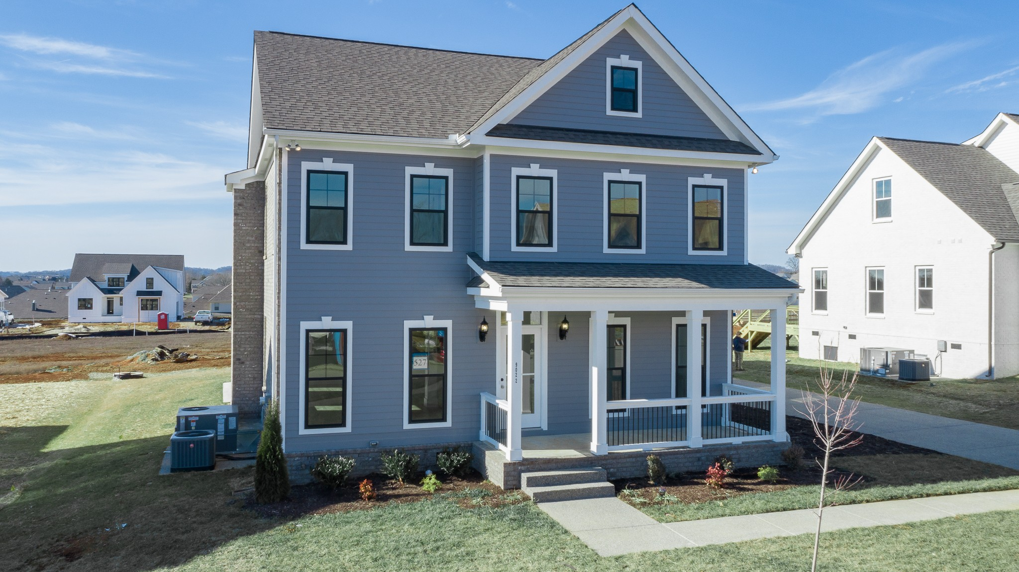 "John Maher Builder's beautiful ""Madison"" Floor Plan. Triple porches and double fireplaces! Side entry oversized garage, 4 bedroom, 3 bathrooms, amazing master bedroom/bathroom and ceramic shower in bath, free standing tub. Formal dining, granite countertops, birch cabinets w/ soft close, real sand and finish hardwoods. Gourmet kitchen with double ovens, built in gas cook top + ask for more details on this listing!"